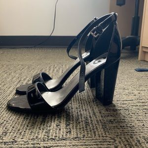 Black G by Guess Ankle Strap Heels